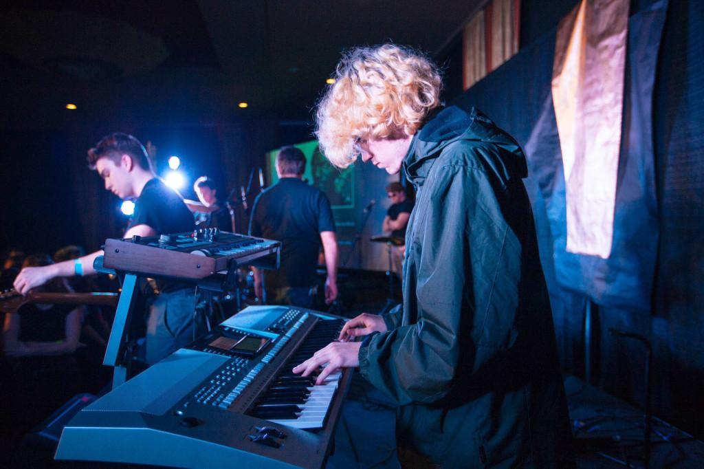 Kyle DelFatti on keyboard for One11Twenty.