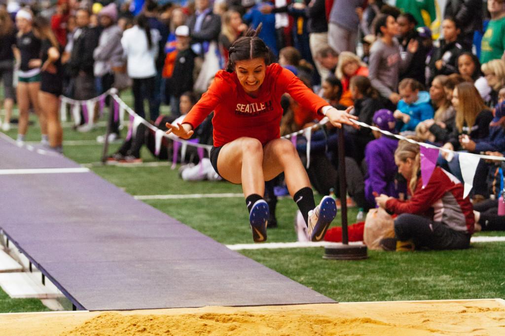 Sandy Dasalla takes a practice jump.