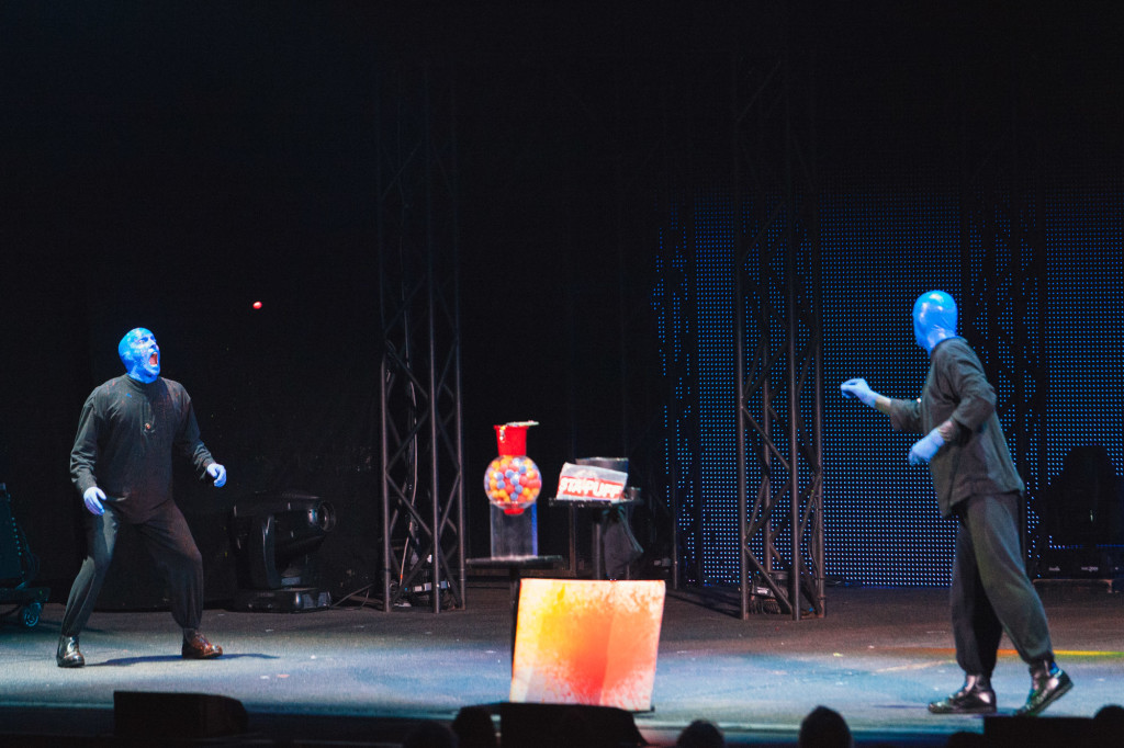 A gumball is tossed tossed across stage. |Cam Peters