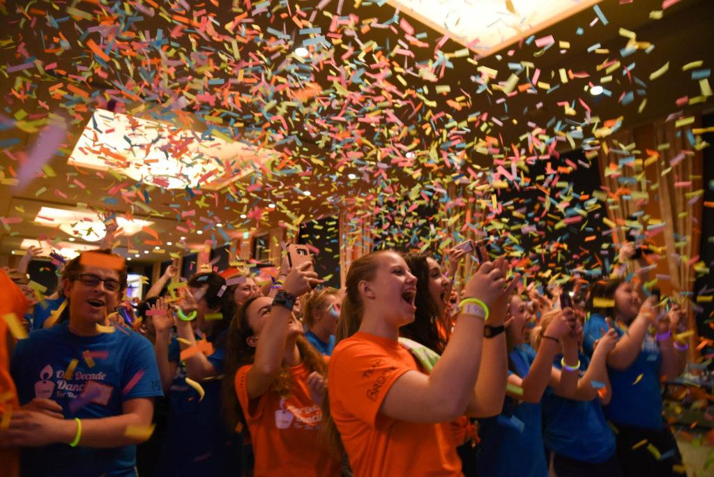 Dnacers celebrating raising $148,210 for Seattle Children's Hospital.