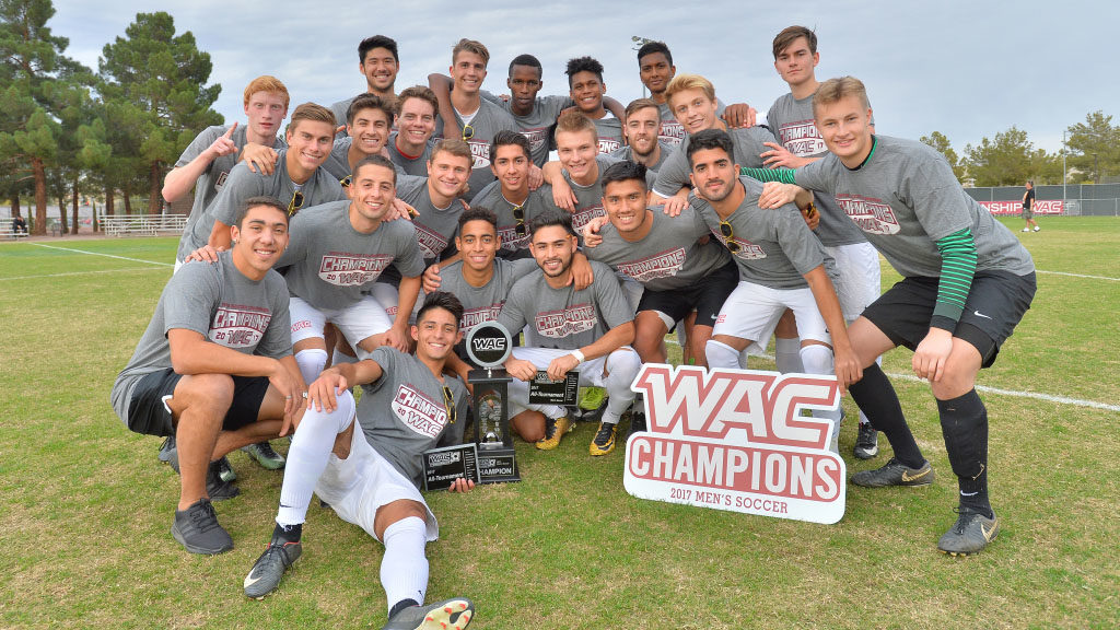 Men's Soccer Wins WAC Championship, Warms Up for NCAA