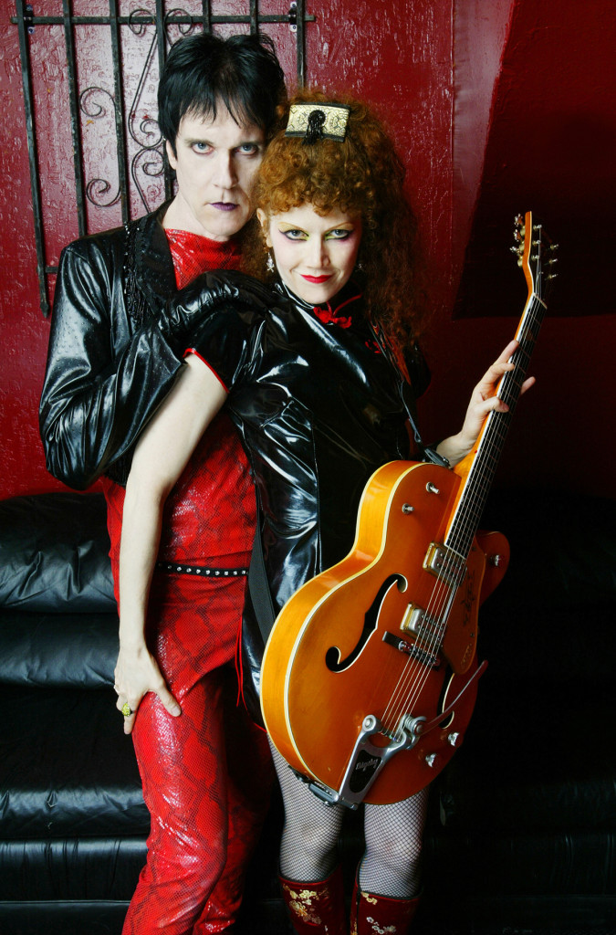 Lux Interior (left) and Poison Ivy (right) were the two founding members of the Cramps. Photo by Steve Jennings.