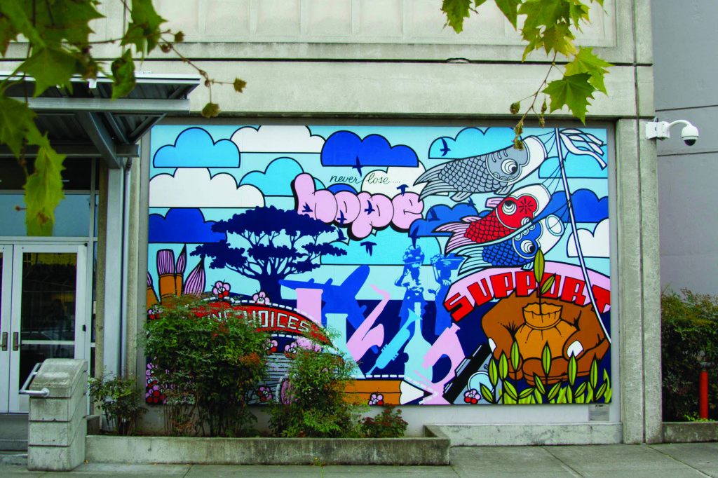A mural painted outside the entrance of the King County Detention Facility. Jessie Koon
